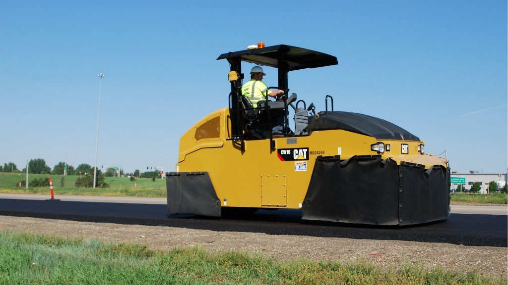 Cat pneumatic compactor in nine- and eleven-wheel models is ideal for all types of asphalt mix