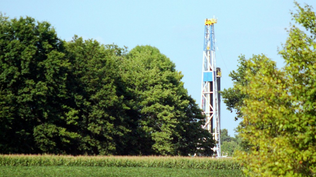 A well in the Pennsylvania Marcellus Shale.