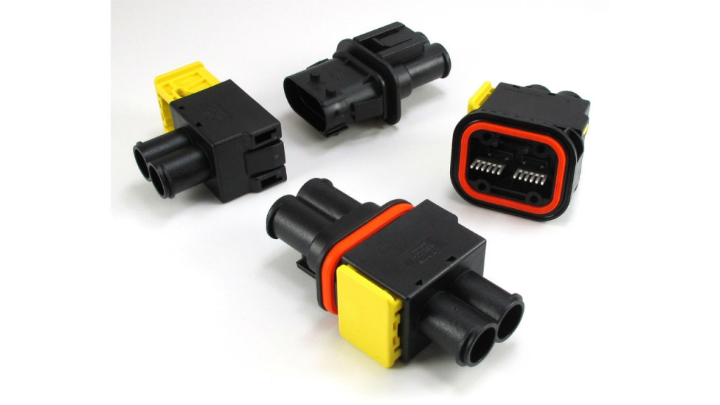 TE high-power connectors designed for harsh environments in mining, construction, trucking applications