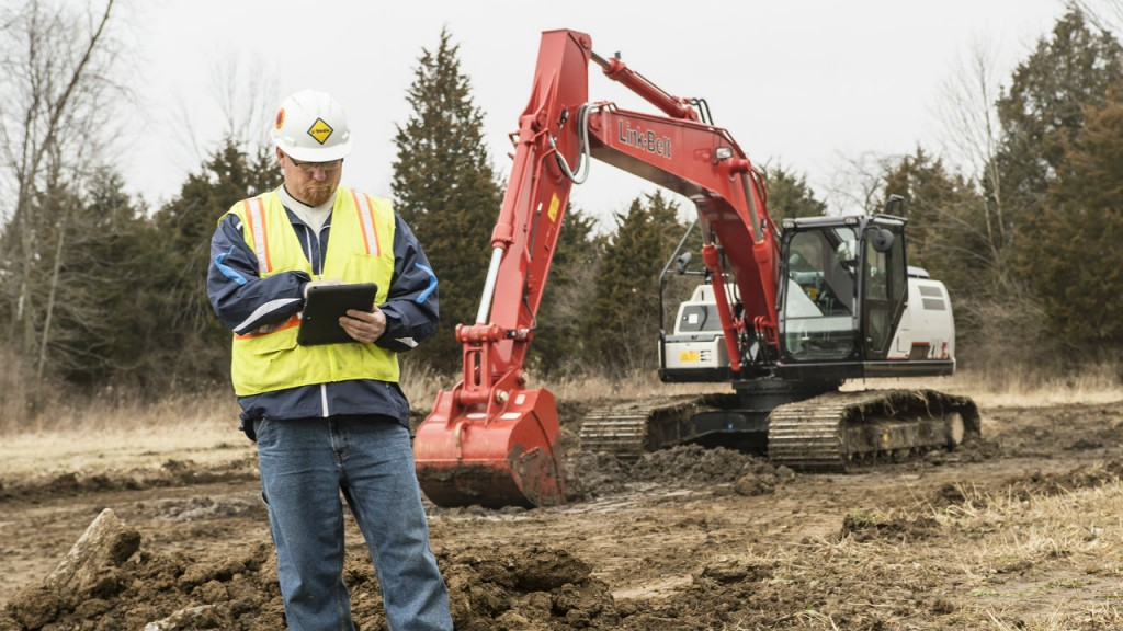 Link-Belt 2D grade control technology improves productivity and accuracy of 210 X4 hydraulic excavator