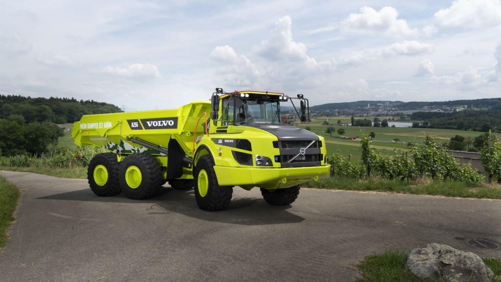 Swiss dealer paints Volvo ADTs green as part of carbon neutral package