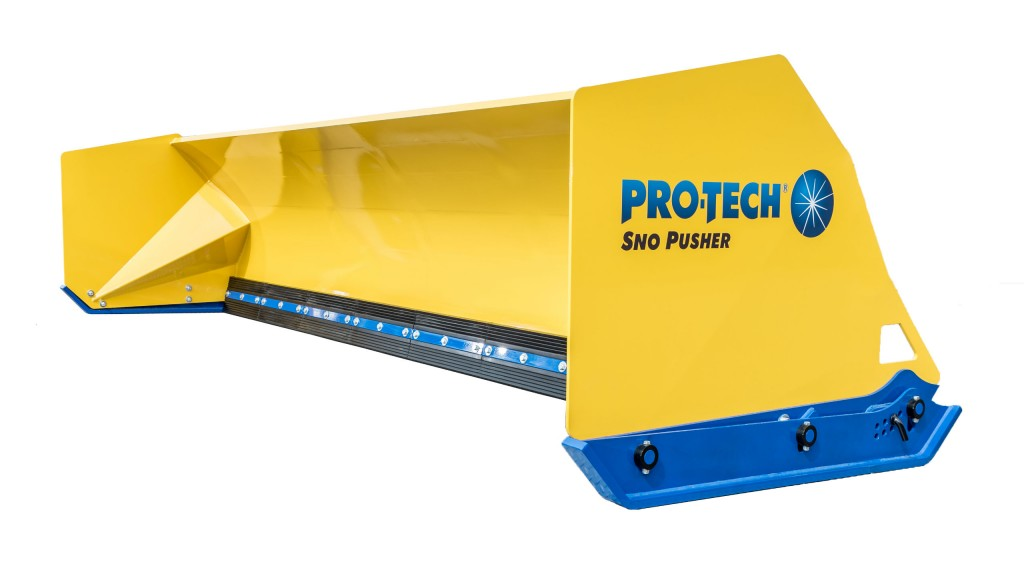 Pro-Tech's new Fusion Edge Sno Pusher features combination steel and rubber cutting edge