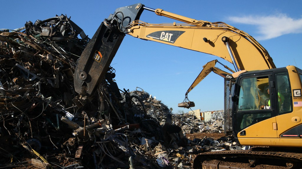 The new Cat mobile shears are designed for use in scrap and recycling operations.