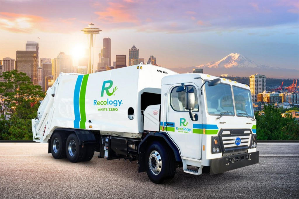 NEW WAY and Recology partner on project to put first electric-powered waste collection trucks on the road in Seattle