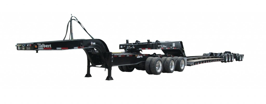 Talbert Manufacturing's 60/65SA trailer has been designed to accommodate both tri-axle and tandem-axle jeeps. It features 2+2, 3+1 and 4 axle close coupled configurations.