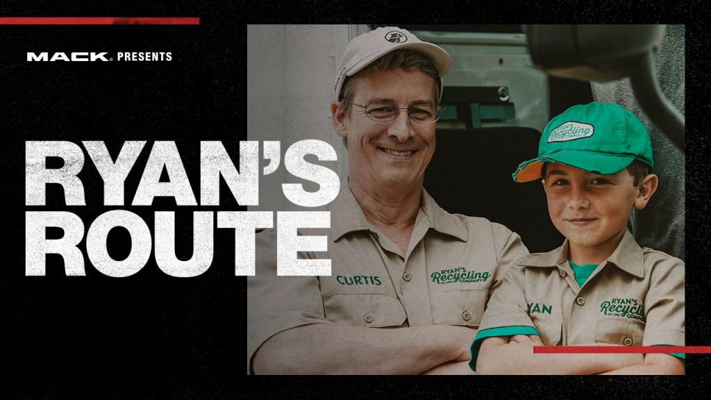 Watch this: Eight-year-old recycling entrepreneur trades family pickup for a Mack LR refuse truck in latest RoadLife episode