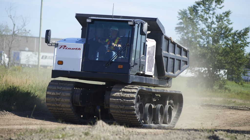 Machines like the PANTHER T14R will now be available through CONTRAC Equipment in Alberta.