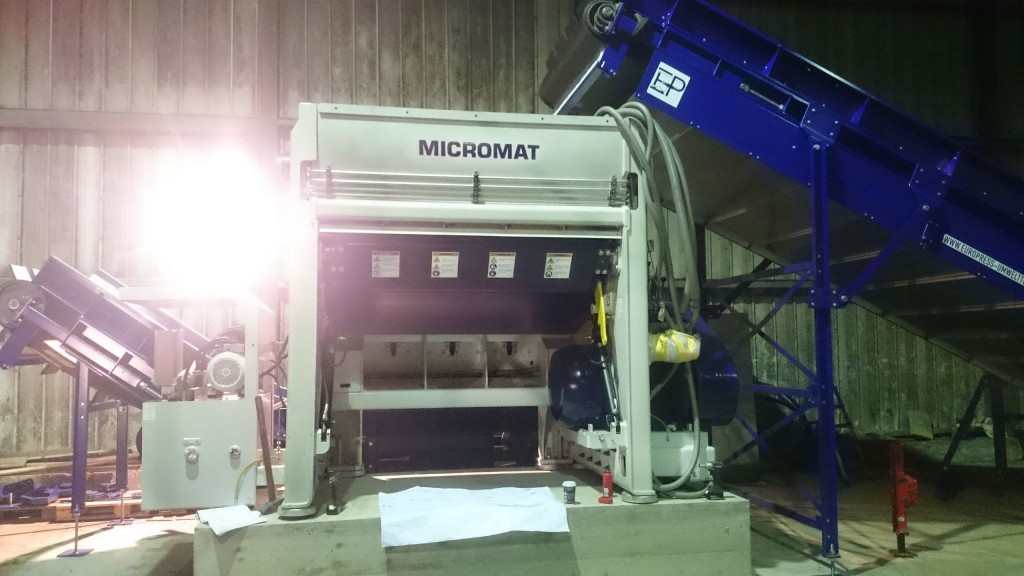The Lindner-Recyclingtech Micromat 2000 BW shredder on site at the Veolia Umweltservice West GmbH  sorting facility for post-consumer plastic films.