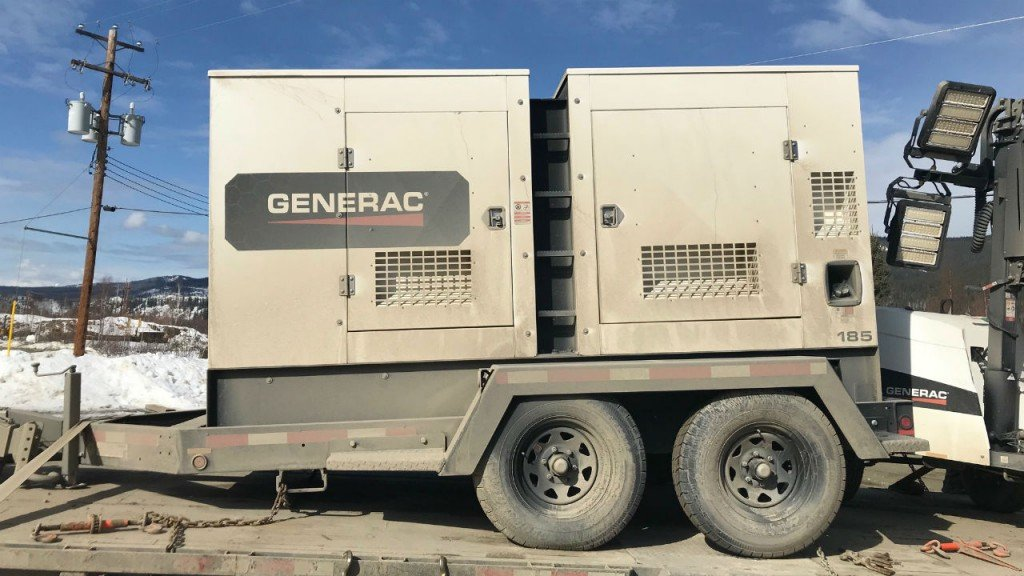"Two Generac MMG185CAN mobile diesel generators provide power for Rick Ness and his gold mining team on Discovery's ""Gold Rush."""