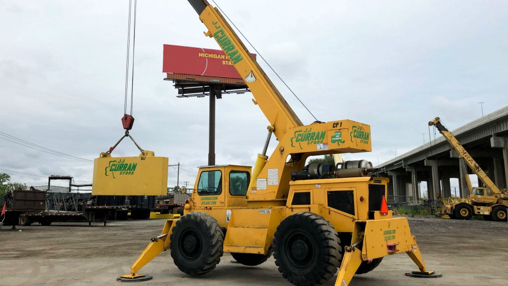 Nearly 60 years old, this Grove RT-58 continues to work hard for the JJ Curran Crane Company.
