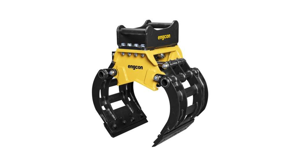 Engcon mini-excavator sorting grab for 1.5- to 3-tonne machines