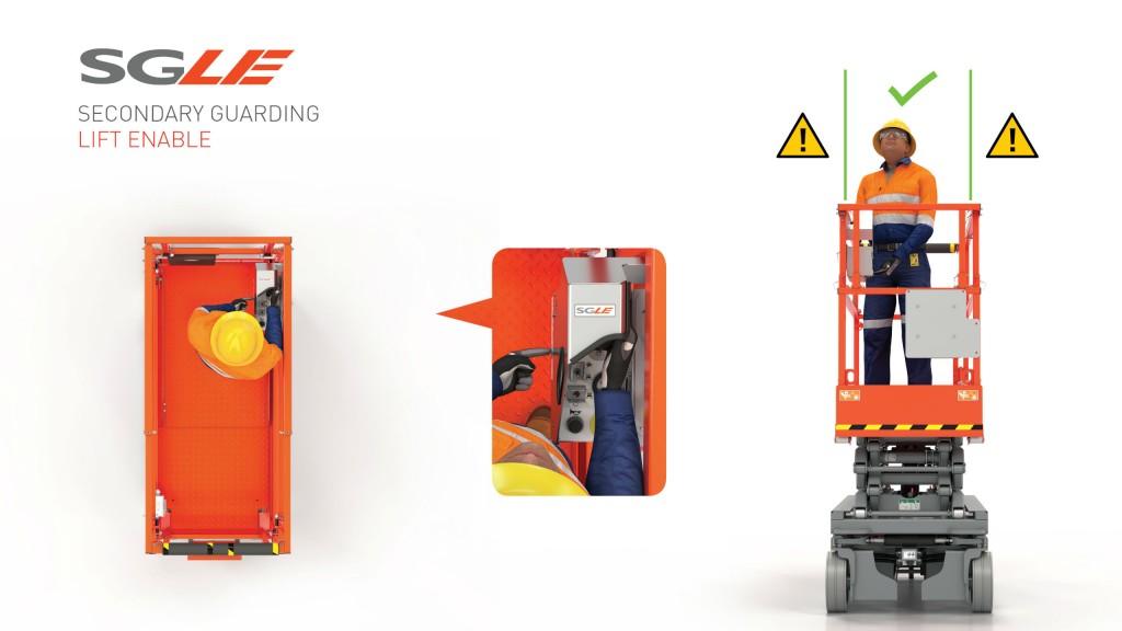 Skyjack's SGLE system improves operator safety on scissor lifts.