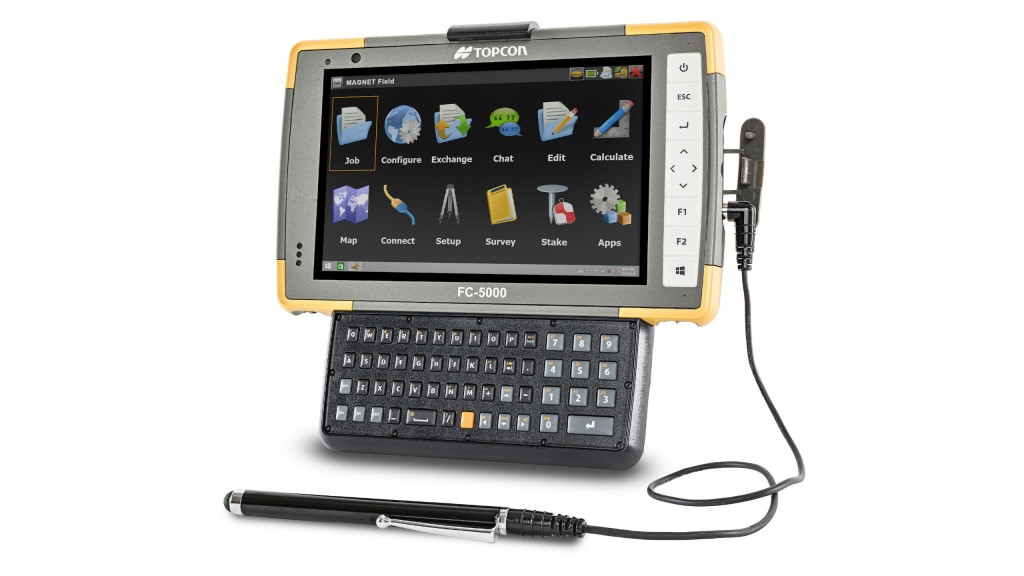 New accessories for Topcon's FC-5000 field computer improve performance in harsh conditions.