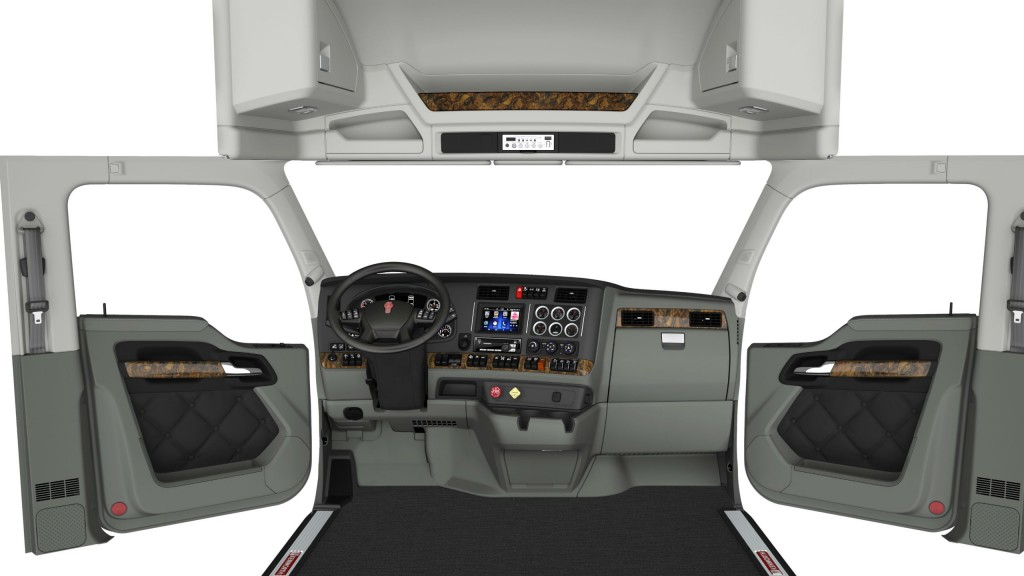 New colour schemes and stylings are available in Kenworth cabs.