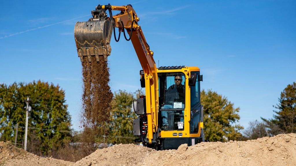 Hyundai and Cummins develop electric-powered mini excavator prototype