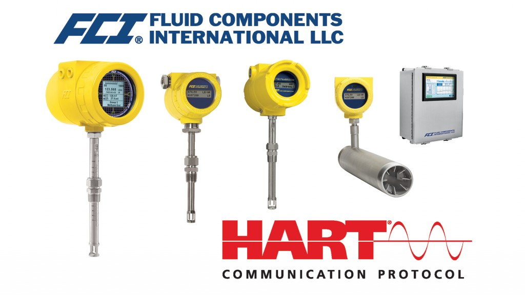 FCI announces broad selection of  thermal flow meters with HART