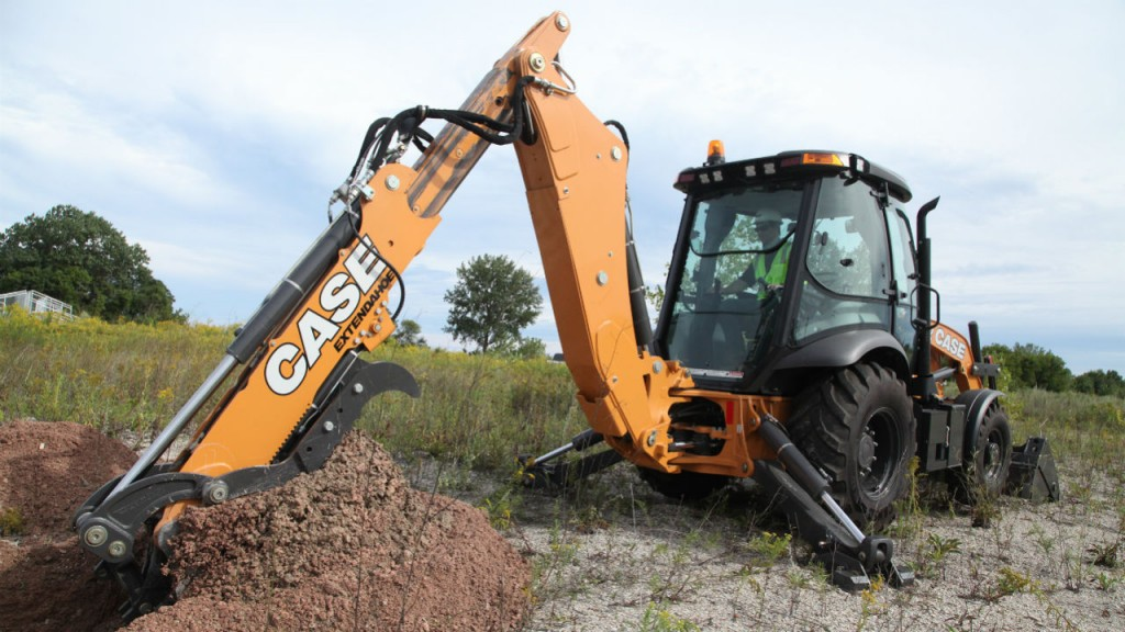 Case N Series backhoe loaders updated with PowerBoost, direct drive and factory-installed thumb