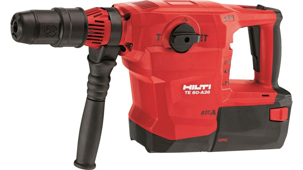 Hilti cordless combihammer has strongest and highest-capacity battery available
