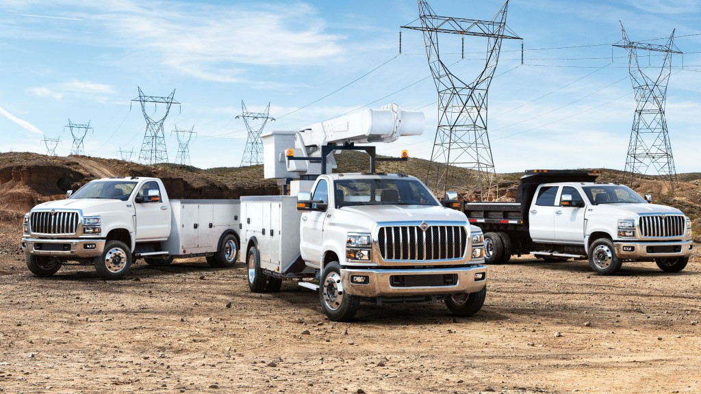 The CV series of Class 4/5 trucks from International are rugged and ready for challenging work sites.