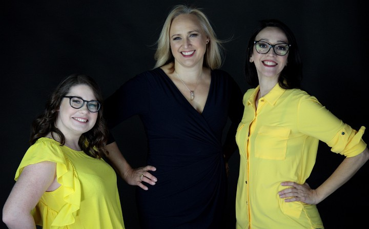 The YESS team from left: Megan Chivers, Sarah Webb, and Carmelina Macario.