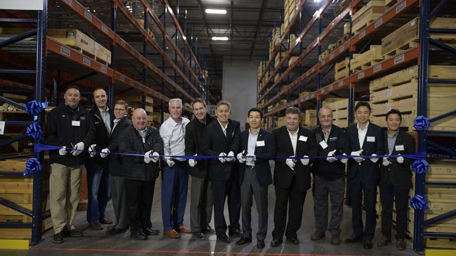 """""""Doosan is committed to being a top five construction equipment brand in North America, and this new parts distribution center illustrates our promise to support our dealers and our customers with parts availability and prompt delivery,"""" said Edward Song, CEO, Doosan Infracore North America, LLC."""