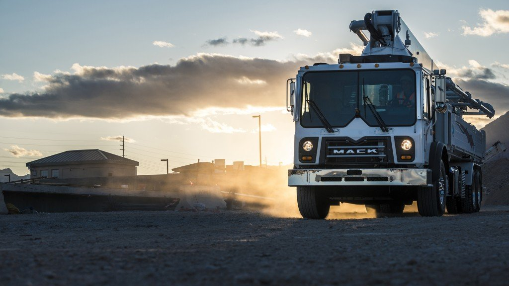 Mack will display six truck models at World of Concrete.