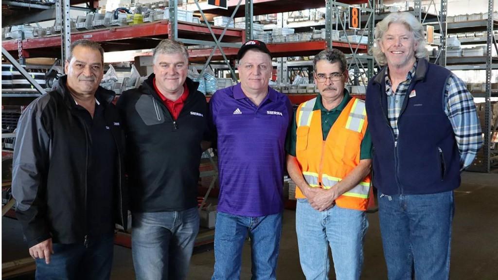 Left to right: Jose Pereyra, John Sacco, Wayne Wolf, Antonio Torres and Doug Barnett.