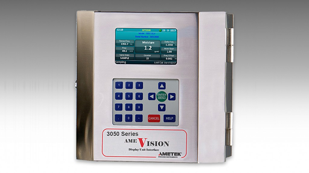 The 3050 series analyzer can be pre-configured at the factory to directly communicate with AMEVision, eliminating the need to set it up, which will ultimately save time in the field.