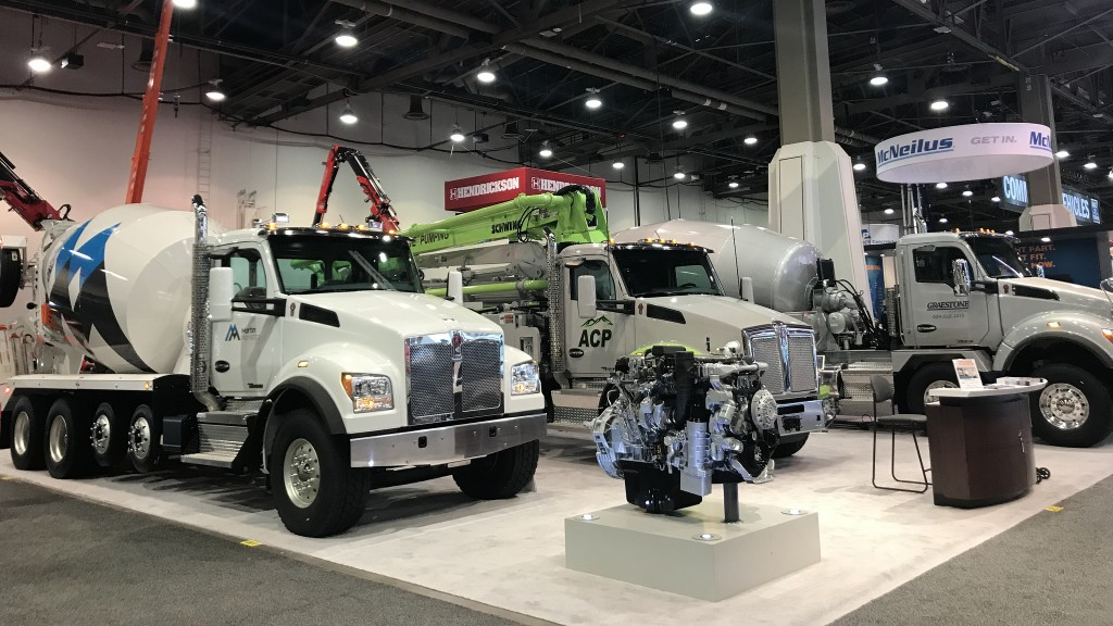 Kenworth features mixers, pumper at World of Concrete - Heavy