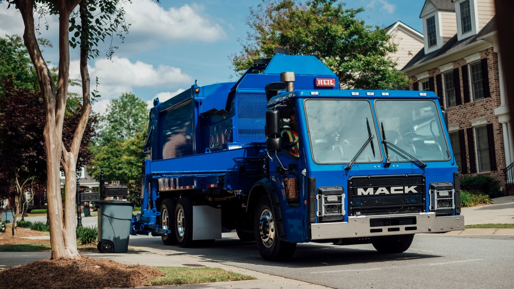 A fully electric-powered version of the standard Mack LR model (above) will be on the road soon.