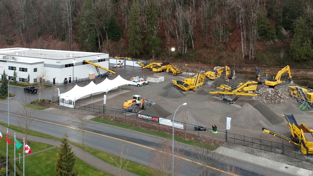 Aerial view of Frontline Machinery Demo Day last year.