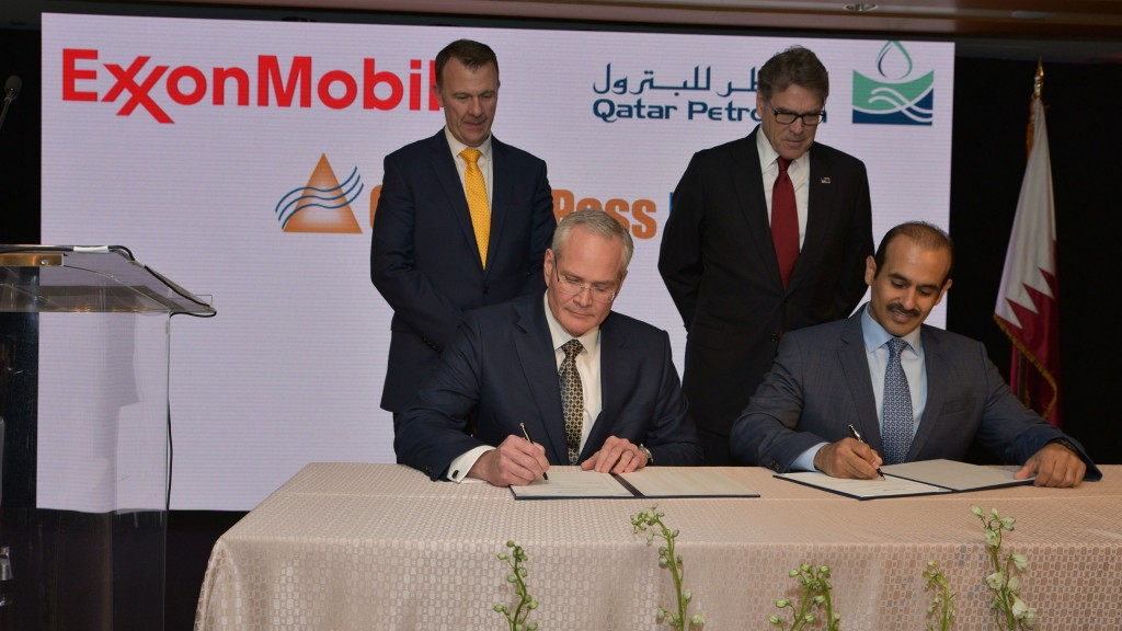 U.S.-based ExxonMobil and Qatar Petroleum LNG project to move ahead