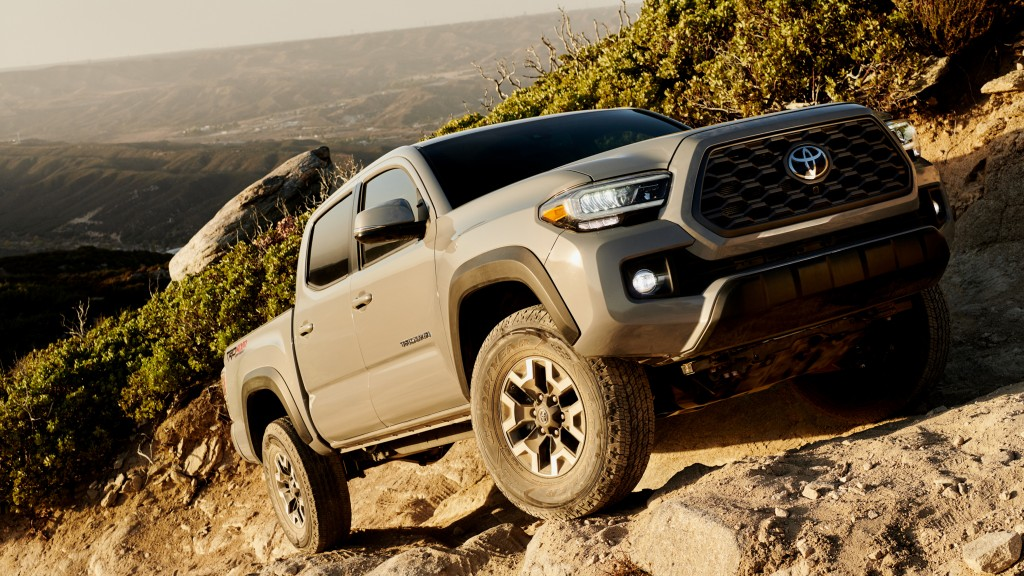 With more than 30 configurations in six model grades available, there's a Tacoma for every need: work-ready SR; high-style, high-value SR5; athletic TRD Sport; adventurous TRD Off-Road; ultimate off-road TRD Pro; and top-of-the-line Limited.