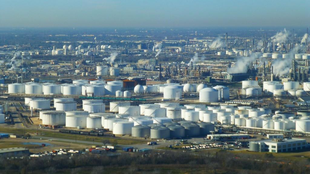 Oil storage tanks near Houston, TX.