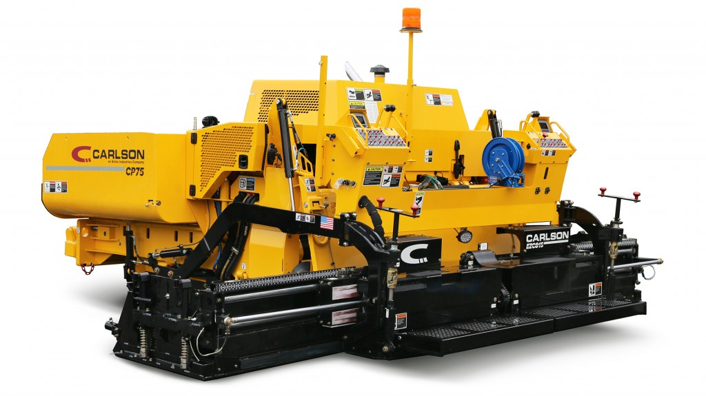 The smallest paver of Carlson's CP-line, the 17,000 lbs. CP75 II features a 74 horsepower Deutz® turbocharged diesel engine (No DEF) for superior performance and reliability.