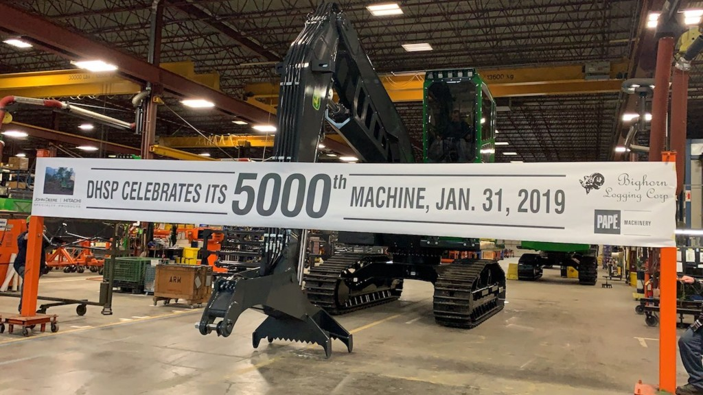 For the event, the DHSP factory hosted Bighorn Logging president, Harve Dethlefs, and vice-president, Mark Standley, as well as their dealer, Papé Machinery.