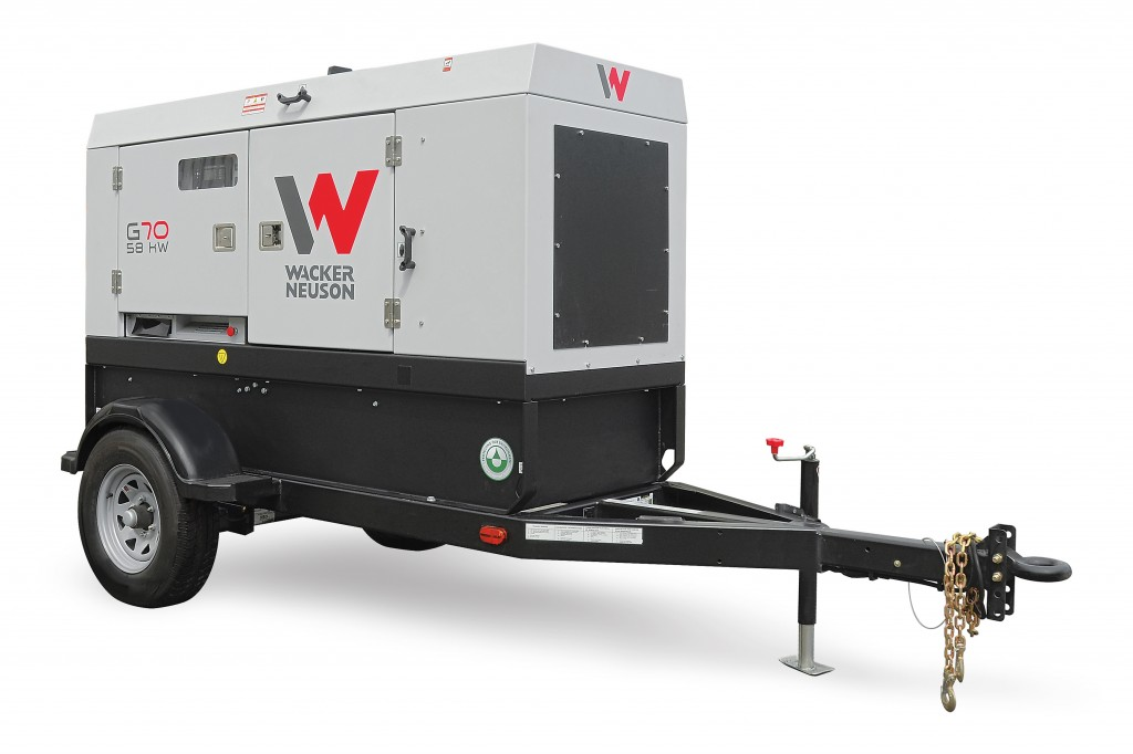 The G70 generator produces standby output of 63 kW/79 kVA and prime output of 58 kW/72 kVA.