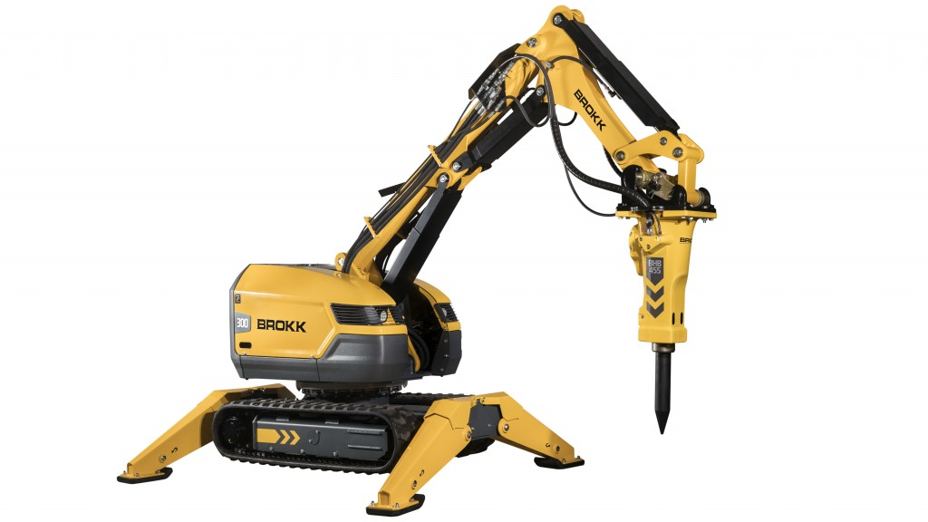 Brokk introduces the Brokk 300, which features 40 percent more demolition power than its predecessor and incorporates new SmartConcept™ technological features.