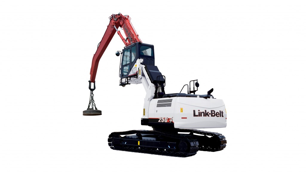 LBX' 250 X4 MH material handler is one of two new models now available, with both straight arm and curved-boom configurations.