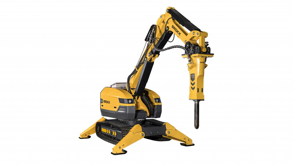 The Brokk 520D is one of four new next generation Brokk remote-controlled demolition machines Brokk is highlighting at World of Concrete 2019 at booth C4249 in Las Vegas.