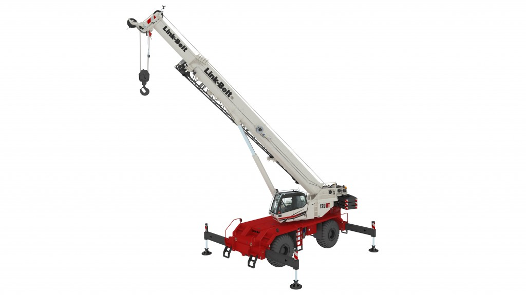The 120|RT delivers outstanding reach with a six-section 38.3 - 164.1 ft. (11.6 - 50 m) pin and latch formed boom, built to Link-Belt's specific boom profile and tolerances at their Lexington, Kentucky, USA facility.
