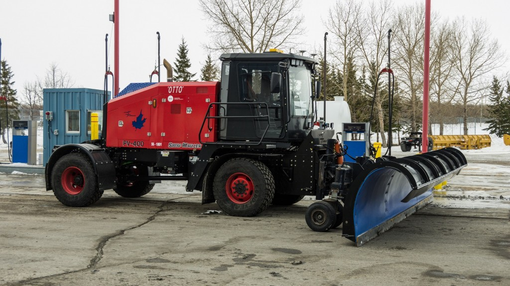 Otto is equipped with 3D LIDAR and RADAR that can sense its surroundings and detect obstacles.  The plow is also equipped with a fault tolerant wireless emergency stop system, a further safety enhancement.