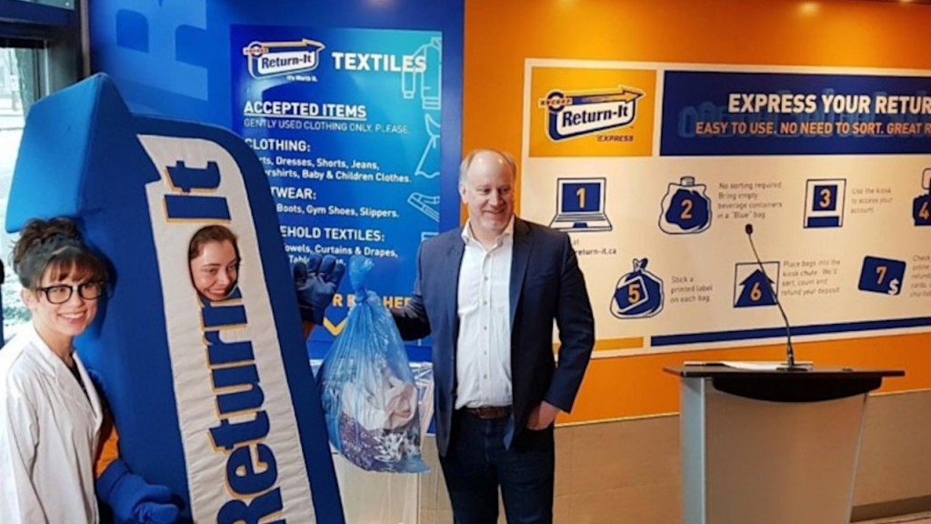 Allen Langdon, President & CEO of Return-It at the launch of the textile recycling pilot project.