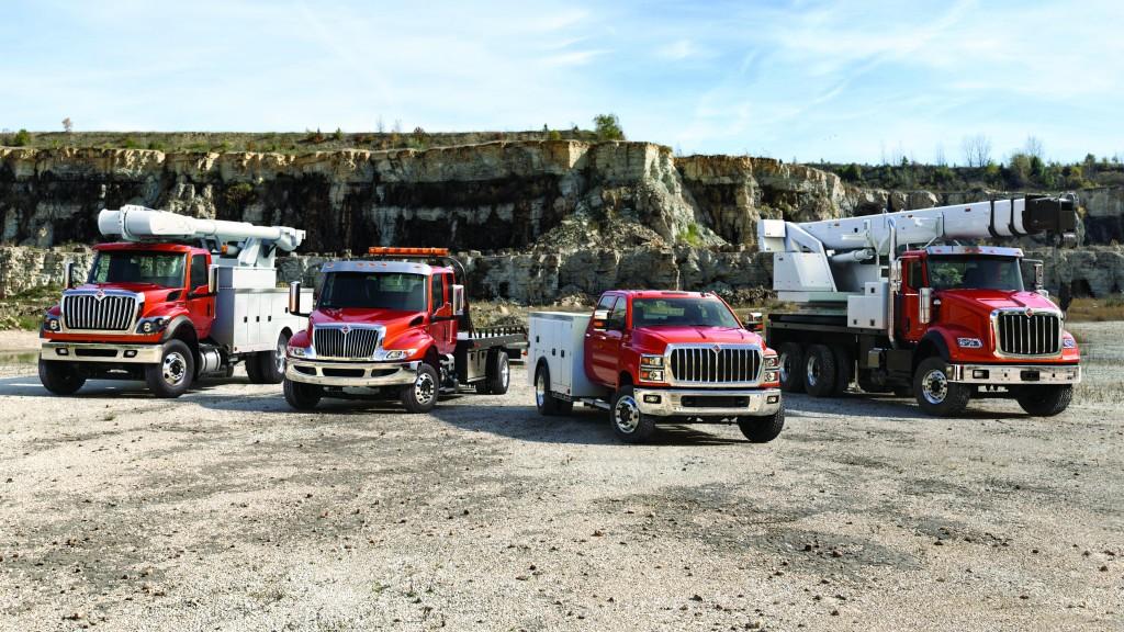 International CV series of Class 4/5 trucks.