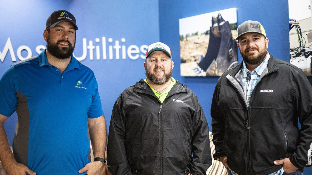 Pictured left to right – Garrett Moss and Chase Whitfield of Moss Utilities, Clifton Place of Bane Machinery.