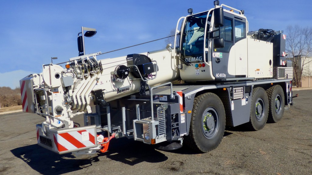 Even though CraneWorks' new Demag AC 45 City is compact, it is still up for handling challenging lifts with a maximum capacity of 50 US tons (45 tonnes).