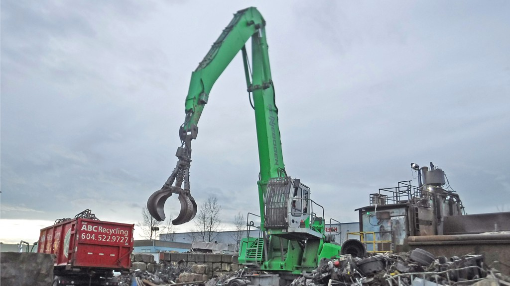 Material handlers helping to build self-sufficiency at ABC Recycling