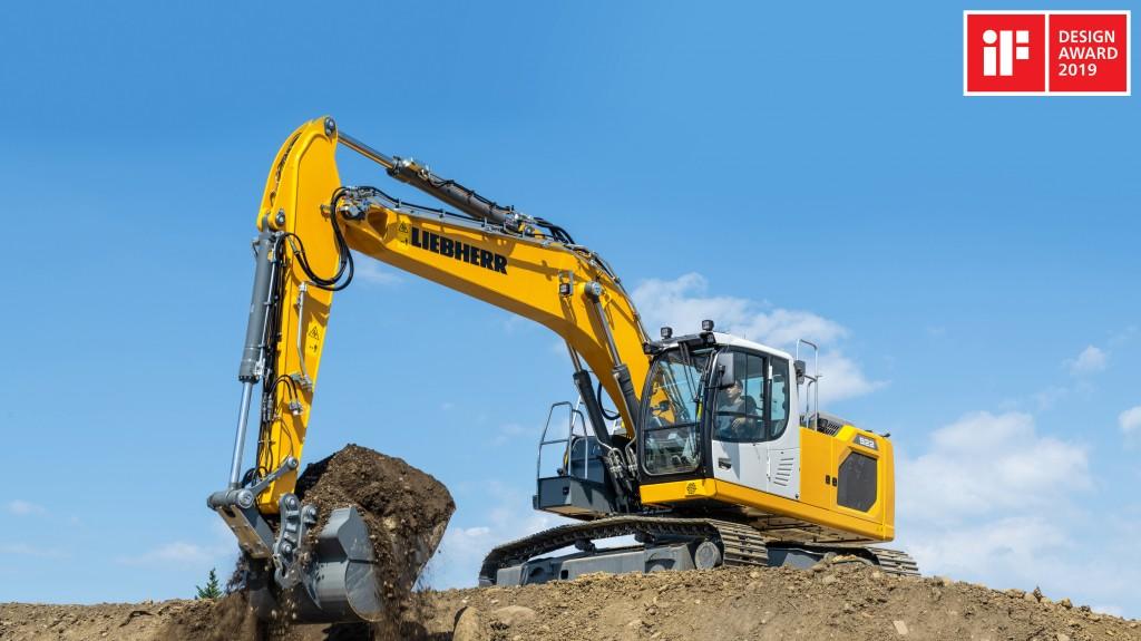 Liebherr crawler excavator wins a 2019 iF Design Award
