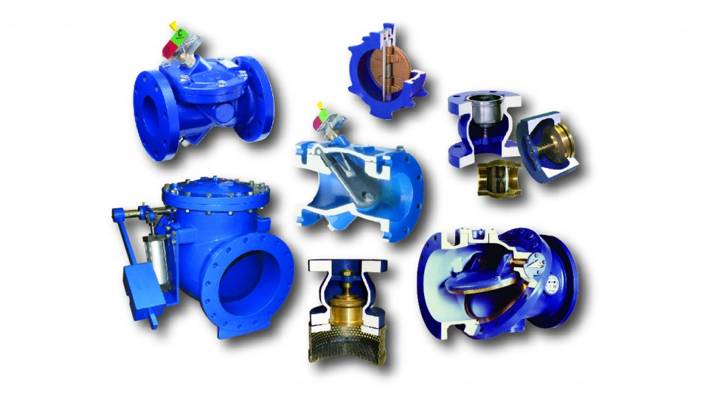 Seven different types of check valves available from Val-Matic