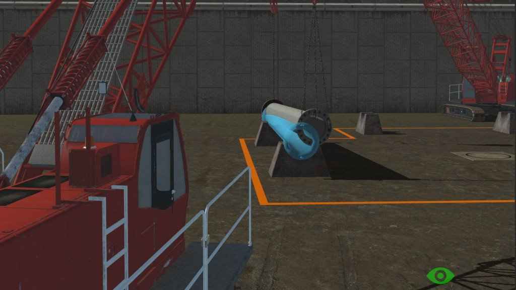 Vortex collaborative learning solution, now available in the Crawler Crane Training Pack, allows two trainees to practice tasks such as tandem crane lifts.